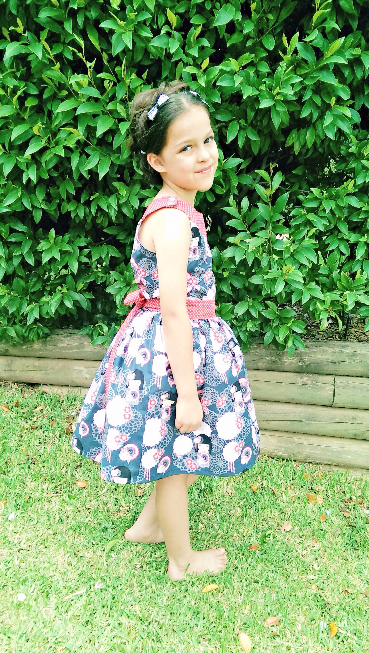 Pretty Party Dress PDF Sewing Pattern - Girls Party Dress ...
