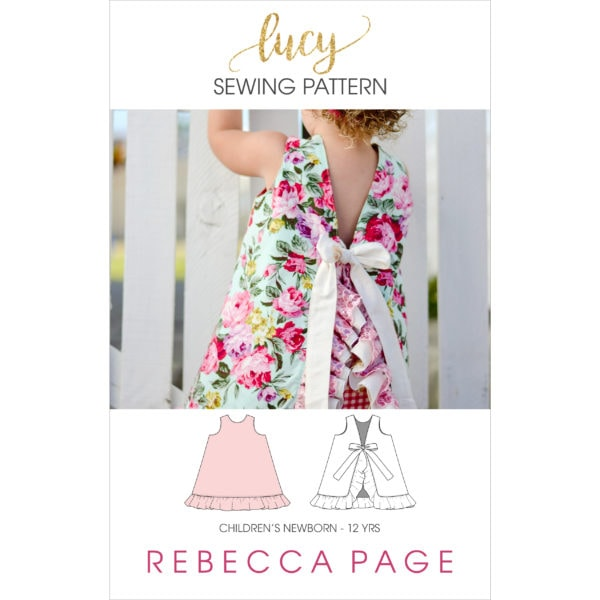 This open back a-line dress pattern sews up super quick into an adorable dress for kidlets in the newborn to 12 years size range!