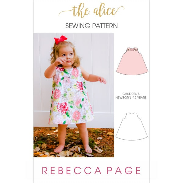 This reversible a-line dress sewing pattern will teach you how to make the perfect a-line dress for kidlets sized newborn to 12 years!