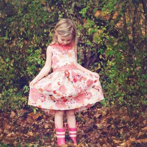 Child's pretty party dress pdf sewing patter
