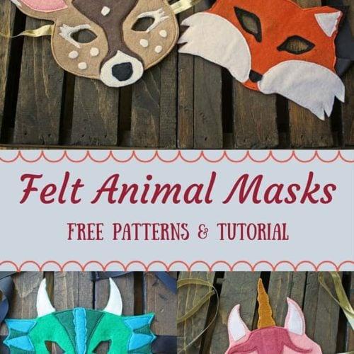 Felt Animal Masks Tutorial