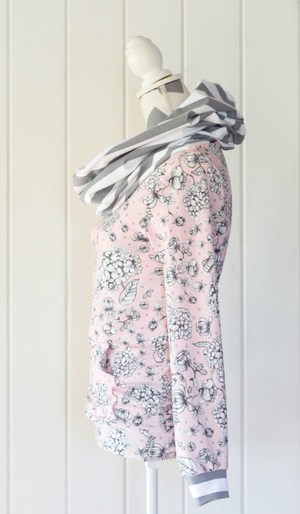 ladies cowl hoodie sewing pattern