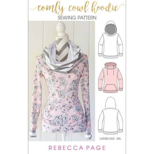 ladies cowl hoodie sewing pattern