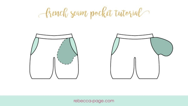 Pockets are such a wonderful detail, and this French seam pocket tutorial is the perfect how to guide to add side-seam pockets with French-seam details!