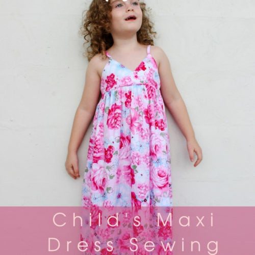 Monte Carlo Maxi Childs Maxi Dress Sewing Pattern By Rebecca Page