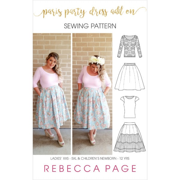 This is an ADD-ON sewing pattern extras for the ladies' and children's Paris Party Dress. Jam-packed with many options including puff sleeves and more!