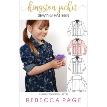 The Kingston is a childrens denim jacket pattern. It is a beautifully-finished jacket for boys and girls, and has many different options to make it unique!