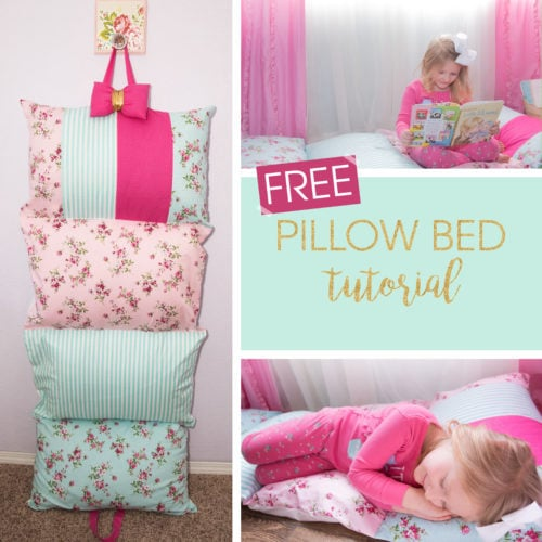 Free Pillow Bed Tutorial From Rebecca Page Pdf Sewing Patterns