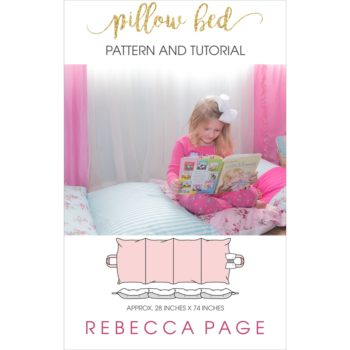 This free pillow bed sewing pattern will teach you how to make a pillow bed! A fun, squishy place to catch a nap, read a book, and hang out.