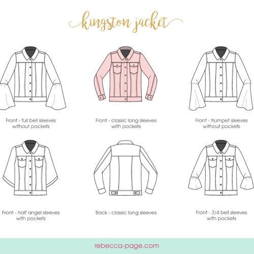 BUNDLE Kingston Jacket - Mommy and Me Denim Jacket Sewing Pattern