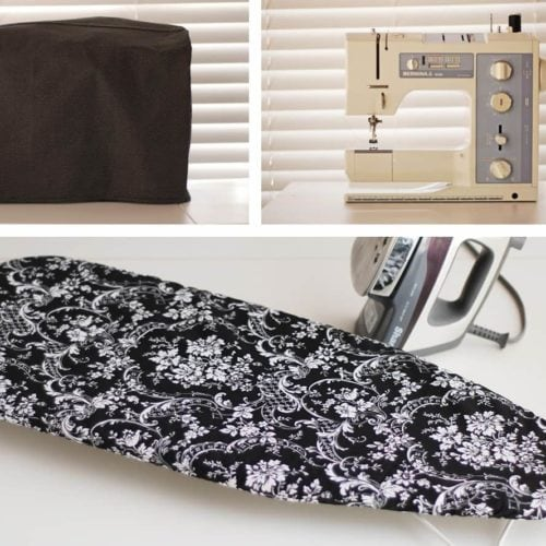 DIY Ironing board and sewing machine cover tutorials