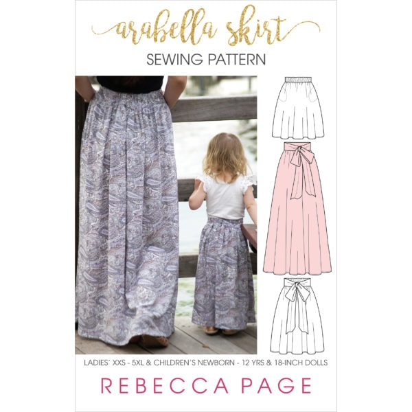 The Arabella is a lovely maxi skirt sewing pattern. An easy and quick sew with lots of options, it's a perfect beginner skirt pattern bundle!