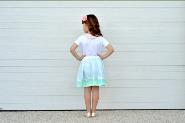 The Arabella is a beautiful childrens maxi skirt pattern. An easy and quick sew with lots of options, it's a perfect beginner skirt sewing pattern!