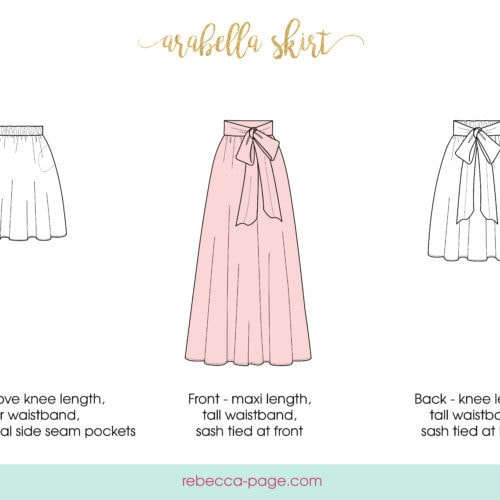 Maxi skirt patterns