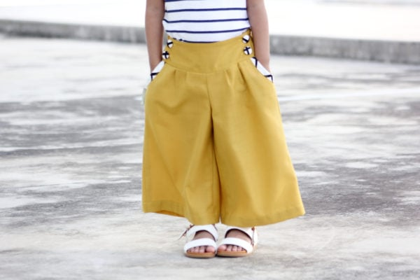 This is an unlined pants pattern ADD ON with additional options for the ladies', dolls' and children's Berry Bubble Shorts sewing patterns!