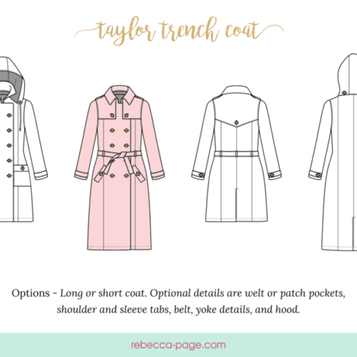 BUNDLE The Taylor Trench – A Trench Coat Sewing Pattern