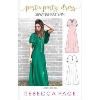 The FULL verison of the Ladies Portia Party dress offers a relaxed, stunning pattern with 4 length options, 2 back styles, and can be woven or knit fabric!