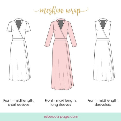 445ed6161 The Meghan Wrap - A Ladies Wrap Dress pattern by Rebecca Page