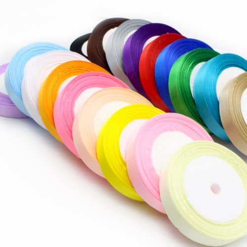 This 1 inch wide Silk Satin Ribbon, 25 yard roll is the exact width and length of ribbon you'll need for our Twirltastic Tutu and is gloriously shiny.