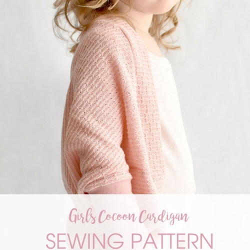 The Cora Cocoon - A Girls Cocoon Cardigan Sewing Pattern