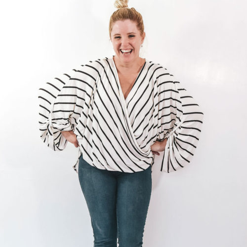 The Neve Wrap Top A Ladies Wrap Blouse Sewing Pattern Rebecca Page
