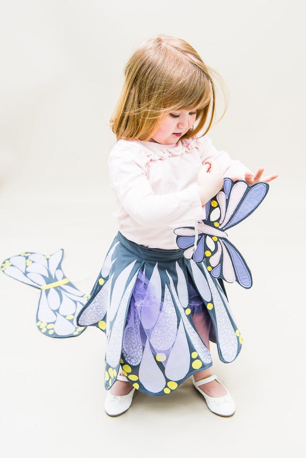 The free DIY butterfly costume sewing pattern lets you use your imagination, creating a wonderfully delightful outfit that will become a firm favourite.