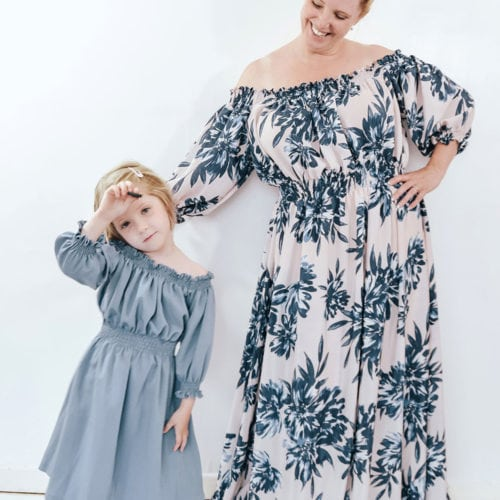 Off The Shoulder Maxi Dress Sewing Pattern The Eloise
