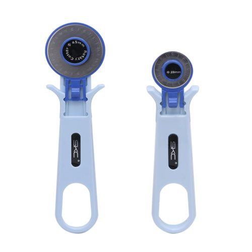 This basic rotary blade cutter is suitable for cloth, leather, paper and various soft material cutting. Equipped with a safety lock button and 1 blade of either 28mm or 45mm size.