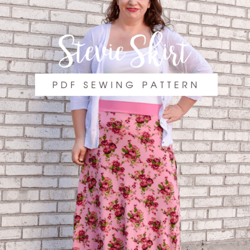 The Stevie A Ladies Jersey Skirt Sewing Pattern Rebecca Page
