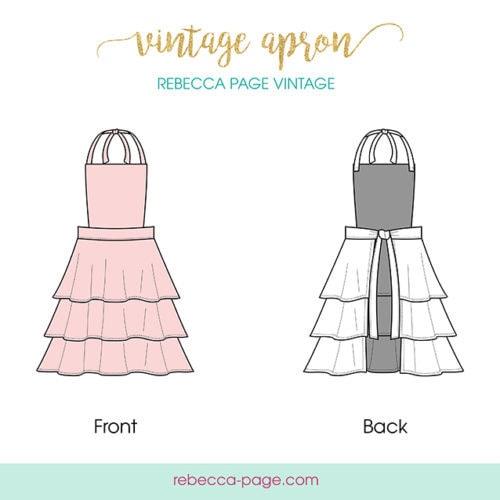 FREEBIE Ladies Vintage Apron Sewing Pattern Rebecca Page Delectable Apron Sewing Pattern