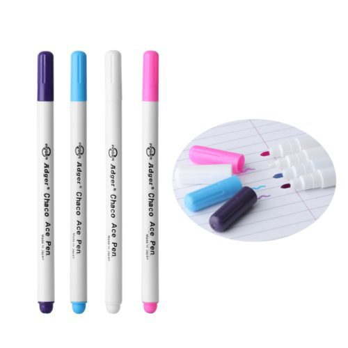 1 or 4 PCS Water-soluble Erasable Ink Marker. These markers are great for marking on fabric or in preparation of patterns, cross-stitch, or needlework.