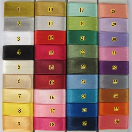 "20mm (3/4"") width poly satin single fold bias tape/bias binding in your choice of many different color options."
