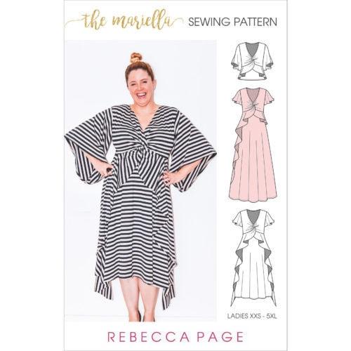 The Mariella – A Ladies Knit Dress Sewing Pattern - Rebecca Page