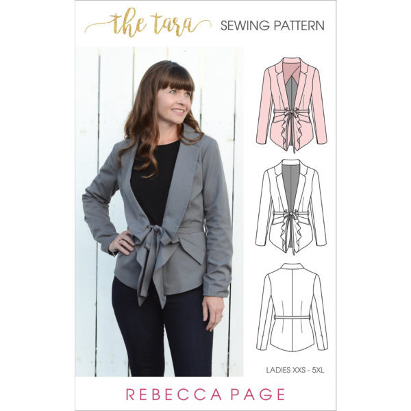 The Tara – A Ladies Tailored Jacket Sewing Pattern - Rebecca Page
