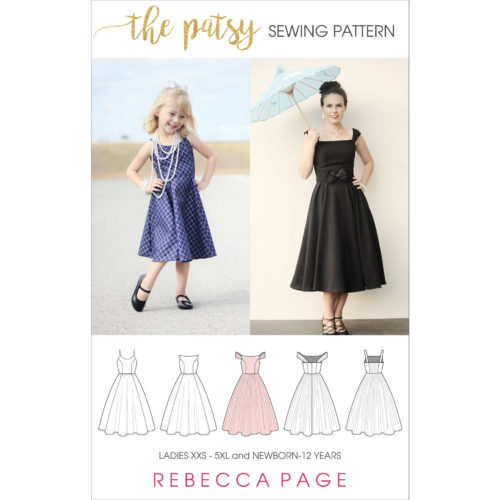 Patsy is the free strapless dress sewing pattern of your dreams! All about glamour, she is sure to become your favourite LBD (lovely beautiful dress)!