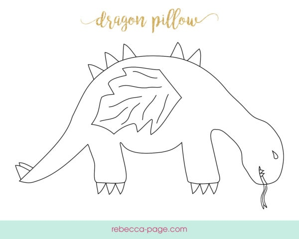 Travel back to the Land Before Time and go on a pre-historic adventure with this insanely cute dinosaur pillow sewing pattern, or explore the mythical and magical world of dragons, and train your dragon to do a bunch of tricks!