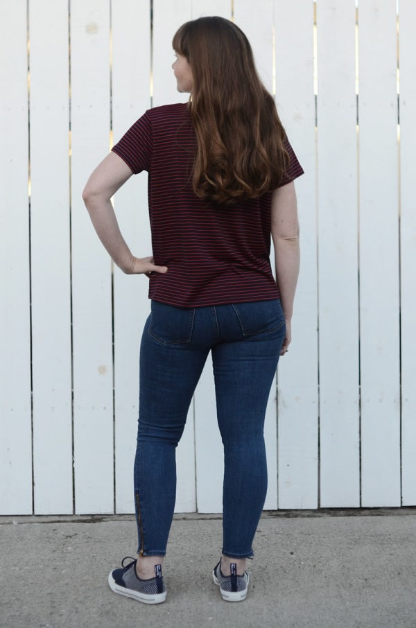 This brilliantly boxy boyfriend-style ladies tshirt sewing pattern is a wardrobe winner! This is a classic you can wear with just about anything.