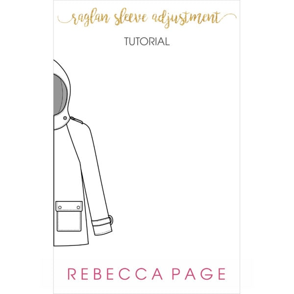 This free raglan sleeve adjustment tutorial will guide you through a sleeve adjustment to ensure the best fit for your me-made wardrobe!
