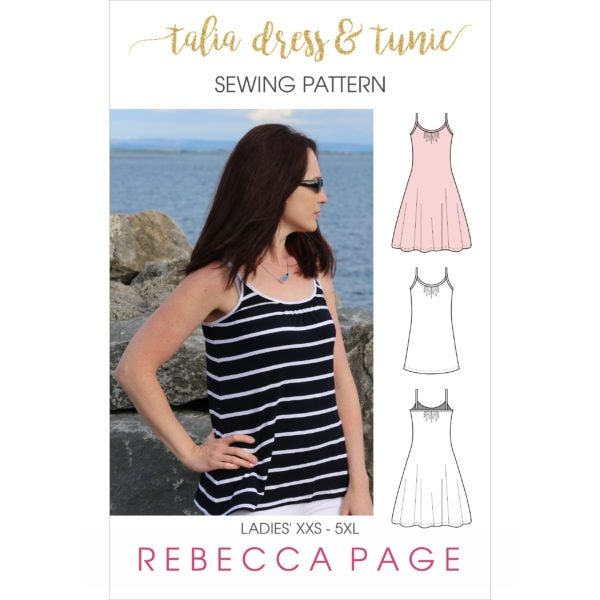 This ladies tunic sewing pattern is the perfect base to start layering any outfit! The Talia is both flattering and comfortable!