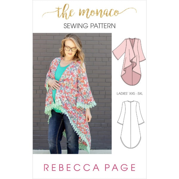 Daydreams of strolling along the Monegasque beaches are within reach… almost. With this ladies cover up sewing pattern, you're one step closer to Monaco 😉
