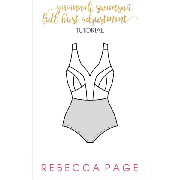 This free swimsuit bust adjustment tutorial for the Savannah Swimsuit will guide you through an FBA. Use this tutorial for a perfect fit!