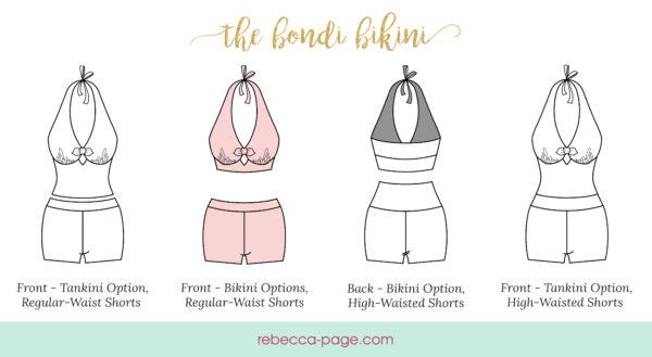 It's swim time! Get that summer wardrobe ready with the ultimate ladies bikini sewing pattern! The Bondi Bikini is comfy and flattering!